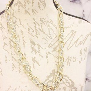 Jewelry - Silver and Gold Tone Link Necklace